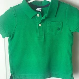 Janie and Jack Green Polo